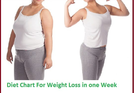 Diet Chart For Weight Loss in one Week Follow This And See Result